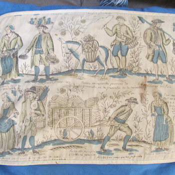 Antique napkin or place mat, possibly French? Seeking information - Kitchen