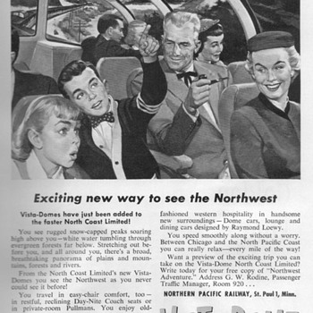 1954 - Northern Pacific Railroad Advertisement