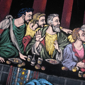 Black velvet painting of last supper