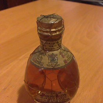 Old bottle of Scotch whiskey