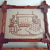 Sampler with Vintage Adirondack Wood Frame