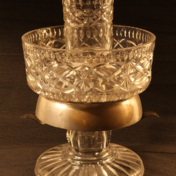 Pressed Glass with bell