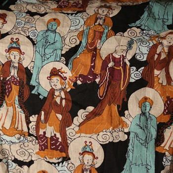 Shawl of Buddhas - Rugs and Textiles