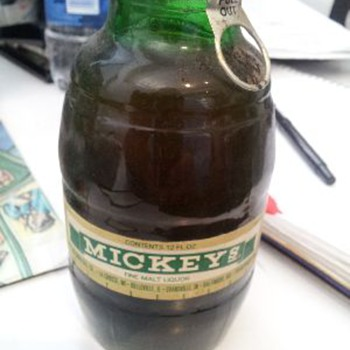 Mickey's Malt Liquor Big Mouth Bottle Full - Breweriana
