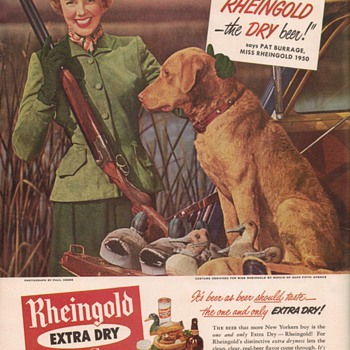 1950 Rheingold Lager Advertisement 1 - Advertising