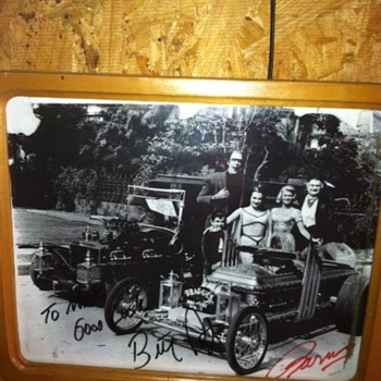 My signed Munsters Coach and Dragula picture