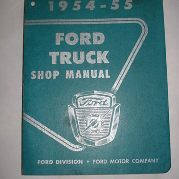 1954-1955  FORD MANUAL