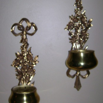 wall sconces with brass bowls
