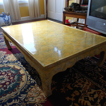 Yellow table - Furniture