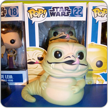 Jabba and slave Leia - FunkoPop! Star Wars