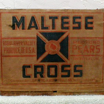 Maltese Cross Brand Wood Fruit Crate