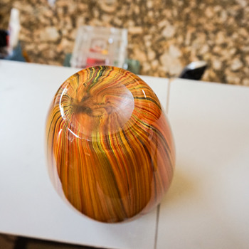Multi Colored Glass Vase