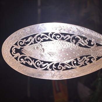 Mappin & Webb 1907 Inlayed Sterling Fish Fillet Server