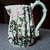 Beautiful Porcelain Floral Pitcher /Hand Painted with Raised Decoration / No Mark / Age Unknown