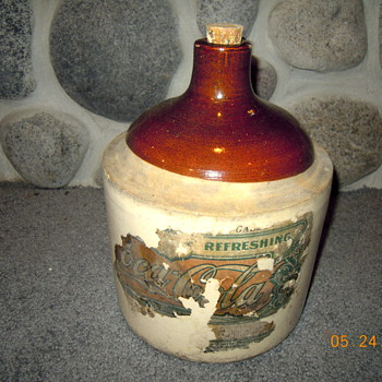 Ceramic Coca-Cola Syrup Jug, Early 1900's, Paper Label
