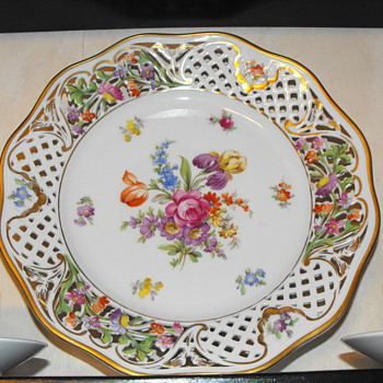 Schumann Dresden Line plate 1945-49'ish - China and Dinnerware