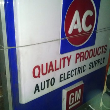 70s Vintage AC / GM illuminated Dealer Sign