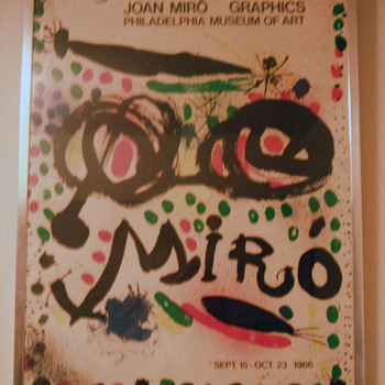"""Joan Miro Graphics Philadelphia Museum Of Art Poster"""