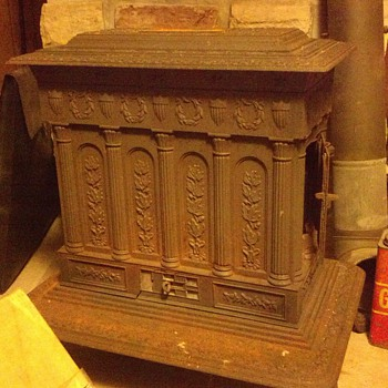 woodstove that came with the house. patent 1851 fred schultz