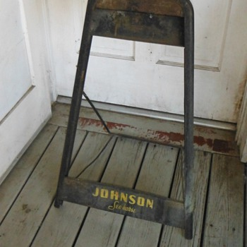 Antique Johnson Outboard Motor Retail Display Stand