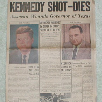1963  Kennedy Shot - Dies