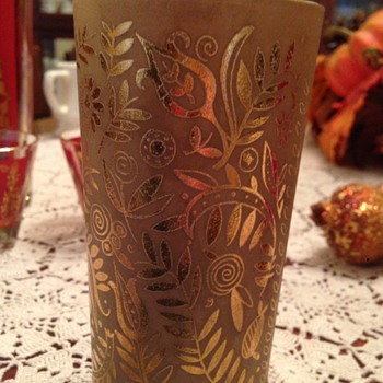 Gold covered glassware