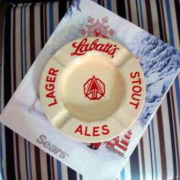Labatt's advertising ashtray