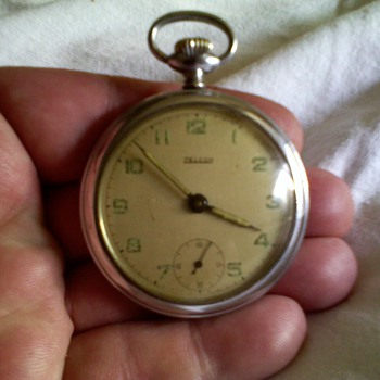 Zelcon swiss made pocket watch,..aprox 18 sizish