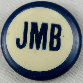 Vintage Pinback Button Idenification Help Political Campaign Pin? Initials JMB  - Advertising