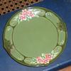 Eichwald Art Nouveau Majolica plate.