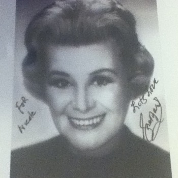 Signed Rose Marie Still - Movies