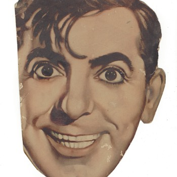 Eddie Cantor face movie card