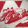 Art Deco period motorcycle speedway poster