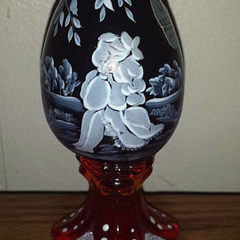 Fenton Art Glass Egg - Art Glass