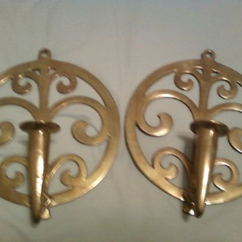 Virginia Metalcrafters Spouting Water Candle holders