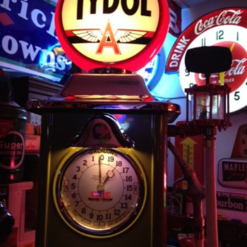 1930's Erie Clock Face Gas Pump...Tydol Theme