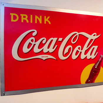 1938 Coca-Cola Tin Sign - Coca-Cola
