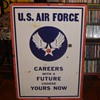Air Force/Army Recruiter Porcelain Sign