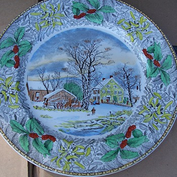 Colorful collector plate