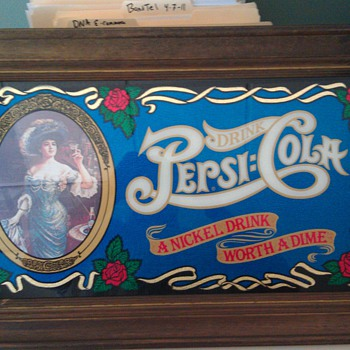 Pepsi Picture  with wooden frame