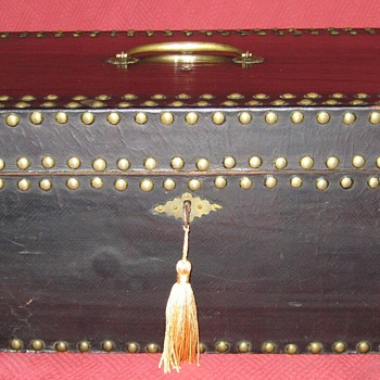 19th Century Patent Leather Document Box/Hand Trunk