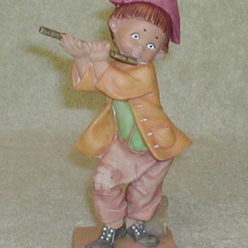 """Fluteplayer"" Figurine - Italy - Art Pottery"
