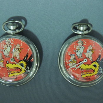 1930s 3 little pigs  big bad wolf time piece collection
