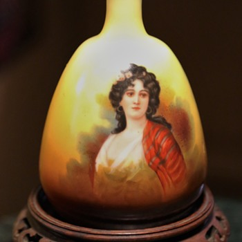 Austrian Portrait Vase by Robert Hanke - repaired - Art Pottery