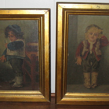 Old paintings around 120 years old