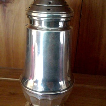 Sterling Sugar Shaker / Muffineer - English Hallmarks - Silver
