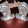 Mystery Art Deco Stainless or Aluminum Bookends