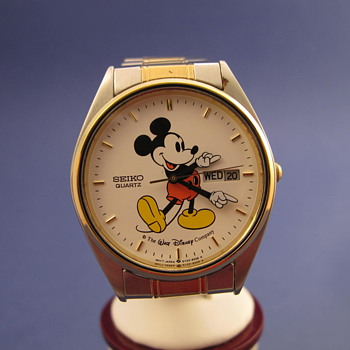1989 Seiko Two Tone Mickey - Wristwatches