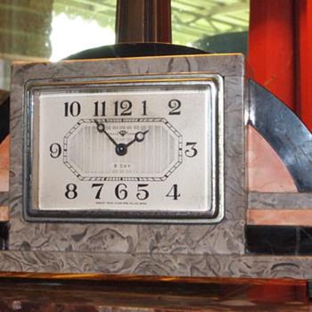 1925-35 Tokyo Clock Mfg Art Deco Clock - Art Deco