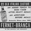 1954 Fernet-Branca Advertisements